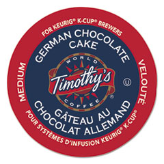 Timothy's World Coffee German Chocolate Cake Coffee K-Cups, 24/Box
