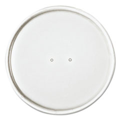 "Dart® Paper Lids for 16oz Food Containers, White, Vented, 3.9""Dia, 25/Bag, 20 Bg/Ctn"
