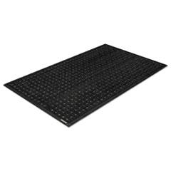 Crown Safe-Flow Plus Drainage Mat, 34 x 54 1/2, Black