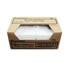 Chicopee® Durawipe Shop Towels, 13 x 15, Flat, White, 300/Carton