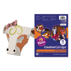 Pacon® Creative Cut Ups, Amusing Animal Masks, 8 1/2 x 10 1/2, 32 Sheets PAC1000086