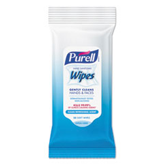 PURELL® Hand Sanitizing Wipes, 7 x 6, Fresh Scent, 20/Pack, 28/Carton GOJ912428CMRCT