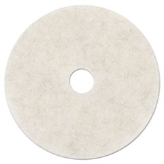 "3M™ Ultra High-Speed Natural Blend Floor Burnishing Pads 3300, 24"" Dia., White, 5/CT"