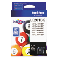 Brother LC201BK Innobella Ink, 260 Page-Yield, Black