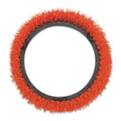 """Oreck Commercial Orbiter Smooth Texture Brush, 12"""" dia, Orange"""