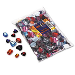 Gemstones Classroom Pack, Acrylic, 1 lbs., Assorted Colors/Sizes