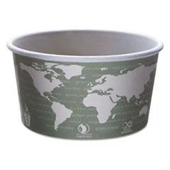 Eco-Products® World Art™ PLA-Laminated Soup Containers