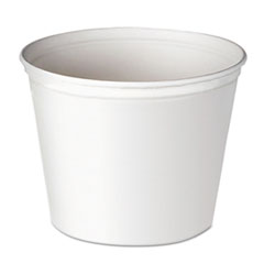 Dart® Double Wrapped Paper Bucket, Waxed, White, 165oz, 100/Carton