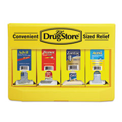 Lil' Drugstore® Single Dose Medicine Dispenser, 110-Pieces, Plastic Case, Yellow/Black