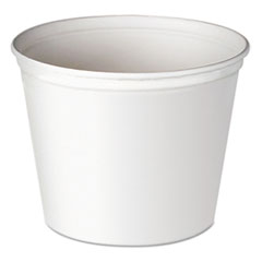 Dart® Double Wrapped Paper Bucket, Waxed, White, 83oz, 100/carton