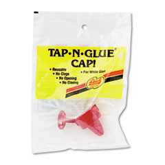 Tap N Glue Dispenser Cap with Spring-Loaded Stopper