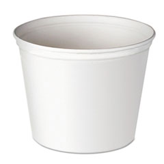 Dart® Double Wrapped Paper Bucket, Unwaxed, White, 165oz, 100/Carton