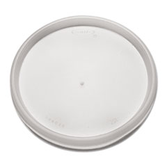 Dart® Plastic Lids for Foam Cups, Bowls and Containers, Flat, Vented, Fits 6-32 oz, Translucent, 1,000/Carton