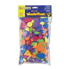 Wonderfoam Shapes, Assorted Shapes/Colors, 720 Pieces/Pack