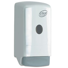 "Dial® Professional Liquid Soap Dispenser, Model 22, 800 mL, 5.25"" x 4.25"" x 10.25"", White"