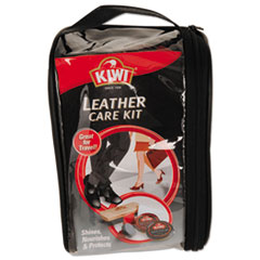 Leather Care Travel Kit, Black/Brown, 6/Carton