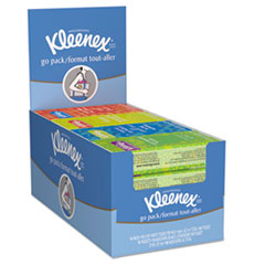 Kleenex® On The Go Packs Facial Tissues, 3-Ply, White, 10 Sheets/Pack, 16 Packs/Box, 12 Boxes/Carton