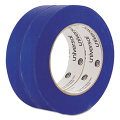 """Universal® Premium Blue Masking Tape with UV Resistance, 3"""" Core, 24 mm x 54.8 m, Blue, 2/Pack"""