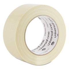 Universal® Premium-Grade Filament Tape w/Natural Rubber Adhesive, 48mm x 54.8m, Clear