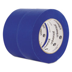 """Universal® Premium Blue Masking Tape with UV Resistance, 3"""" Core, 48 mm x 54.8 m, Blue, 2/Pack"""