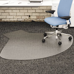 deflecto® SuperMat Frequent Use Chair Mat, Medium Pile Carpet, 60 x 66, Workstation, Clear