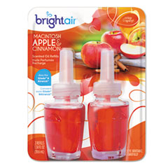 BRIGHT Air® Electric Scented Oil Air Freshener Refill, Macintosh Apple and Cinnamon, 2/Pack BRI900255PK