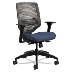 HON® Solve Series ReActiv Back Task Chair, Midnight/Charcoal HONSVMR1ACLCO90