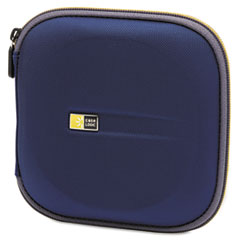 Molded EVA CD/DVD Wallet, Holds 24 Discs, Blue