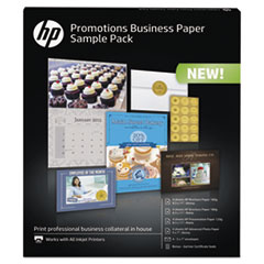 HP Business Promotions Sample Pack, Assorted Sizes, 16 Sheets, 4 Envelopes