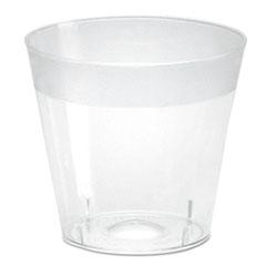 WNA Plastic Shot Glasses, 1 oz, Clear, 2500/Carton