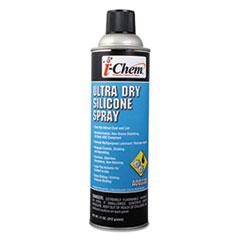 i-Chem® Ultra Dry Silicone Spray, 11 oz Aerosol Can, 12/Carton