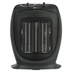 "Alera® Ceramic Heater, 7 1/8""w x 5 7/8""d x 8 3/4""h, Black"