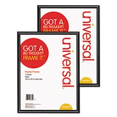 Universal® Glossy Black Poster Frame, 18 x 24, 2/Carton UNV76870CT