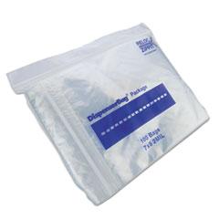 "Fantapak Plastic Zipper Bags, 2 mil, 7"" x 8"", Clear, 2,000/Carton"