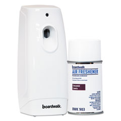 Boardwalk® Air Freshener Dispenser Starter Kit, White, Cinnamon Sunset, 5.3 oz