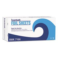 Boardwalk® Pop-Up Aluminum Foil Wrap Sheets, Heavy Duty, 12 x 10 3/4, Silver, 500/Box