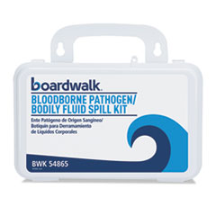 "Boardwalk® Blood Clean-Up Kit, 30 Pieces, 3"" x 8"" x 5"", White BWK54865"