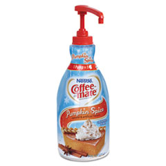 Coffee-mate® Liquid Creamer Pump Bottle, Pumpkin Spice, 21.1 oz Pump Bottle