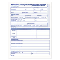 TOPS™ Comprehensive Employee Application Form, 8 1/2 x 11, 25 Forms