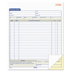 Purchase Order Book, 8 3/8 x 10 3/16, Two-Part Carbonless, 50 Sets/Book