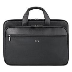 """Solo Classic Smart Strap Briefcase, 16"""", 17 1/2"""" x 5 1/2"""" x 12"""", Black"""