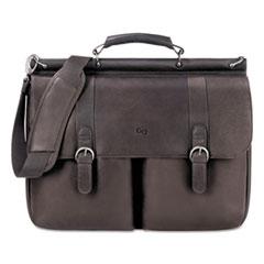 """Solo Executive Leather Briefcase, 16"""", 16 1/2"""" x 5"""" x 13"""", Espresso"""