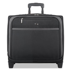 """Solo Pro Rolling Overnighter Case, 16"""", 15 1/2 x 8"""" x 11, Black"""