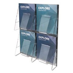 Multi-Pocket Wall-Mount Literature Systems, 18 3/8w x 23 3/4h,Clear/Black