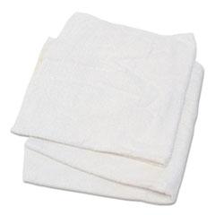 HOSPECO® Woven Terry Rags, White, 15 x 17, 25 lb/Carton
