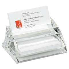 Swingline® Stratus Acrylic Business Card Holder, Holds 40 3 1/2 x 2 Cards, Clear