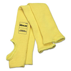 MCR™ Safety Economy Series DuPont Kevlar Fiber Sleeves, One Size Fits All, Yellow, 1 Pair