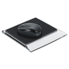 Swingline® Stratus Acrylic Mouse Pad, Black/Clear