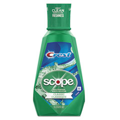 Crest® + Scope Mouth Rinse, Classic Mint, 1 L Bottle, 6/Carton
