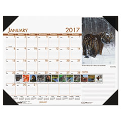 House of Doolittle™ Earthscapes™ 100% Recycled Beautiful Wildlife Monthly Desk Pad Calendar Thumbnail